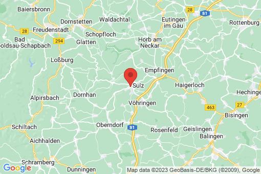 Karte Sulz am Neckar