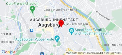 Google Map für Monteurzimmer Unterkunft Augsburg RWa