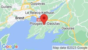 Carte de localisation du centre de contrôle technique PLOUGASTEL DAOULAS