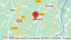 Carte de localisation du centre de contrôle technique Huttenheim