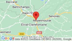 Carte de localisation du centre de contrôle technique MOYENMOUTIER