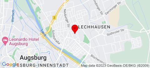 Google Map für Pension Royal 86165 Augsburg