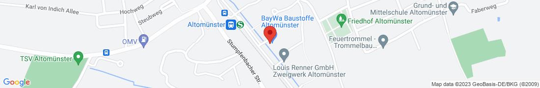 BayWa Baustoffe Altomuenster Anfahrt
