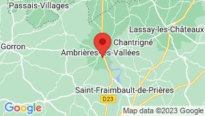 Carte de localisation du centre de contrôle technique AMBRIERES LES VALLEES