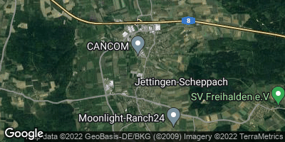 Google Map of Jettingen-Scheppach