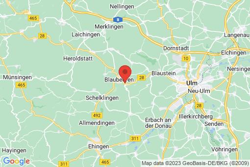 Karte Blaubeuren Gerhausen