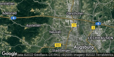 Google Map of Neusäß