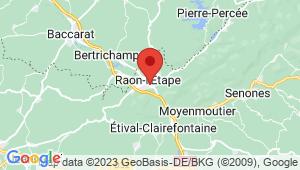 Carte de localisation du centre de contrôle technique Raon-l'Etape