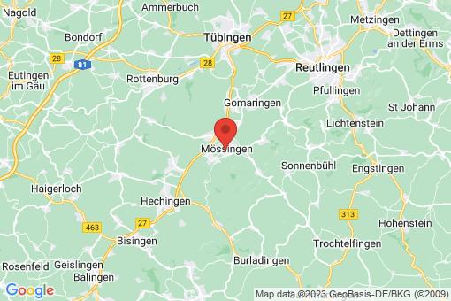 Karte Mössingen