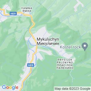 Карта города Микуличина