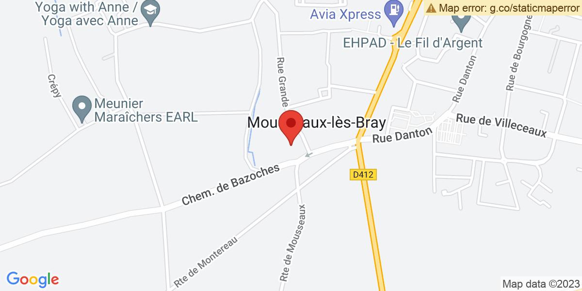 Localisation du projet 'Les bénévoles, petites mains des décorations de Noël à Mousseaux-lès-Bray'