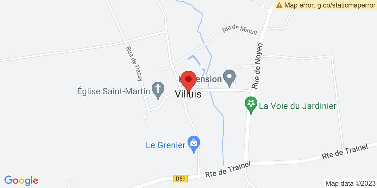Localisation du projet 'Restauration de « La présentation au Temple », à Villuis'