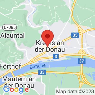 Map showing Kaffee Campus Krems
