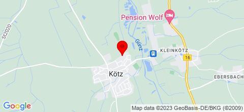 Google Map für Monteur-/ und Ferienwohnung Waldblick