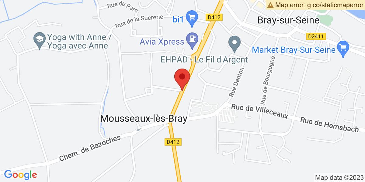 Localisation du projet 'DERNIÈRE LIGNE DROITE POUR LA TEAM 2 LCR MOTORSPORTS A MOUSSEAUX-LES-BRAY'