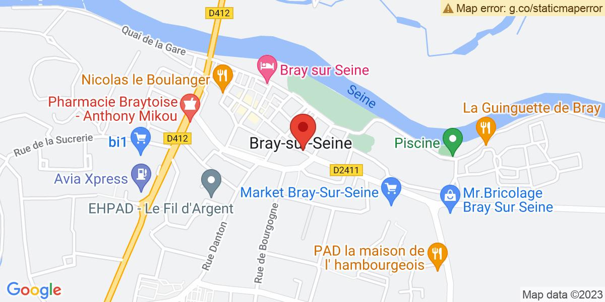 Localisation du projet 'Défilé de véhicules alliés pour commémorer la Libération, étape de Bray-sur-Seine'