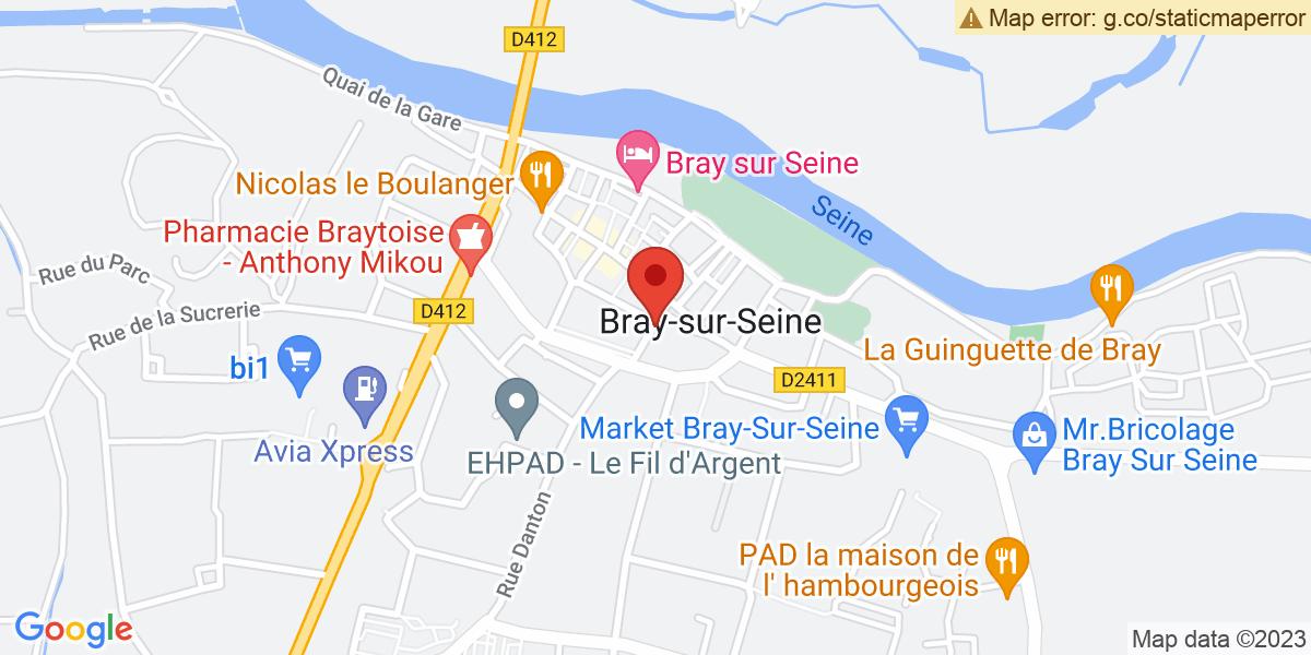 Localisation du projet 'THÉ DANSANT SOUS LA HALLE DE BRAY-SUR-SEINE'