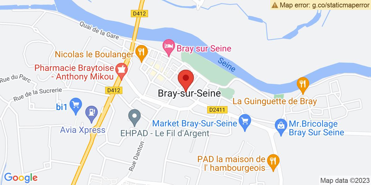 Localisation du projet 'FOIRE DE BRAY-SUR-SEINE'
