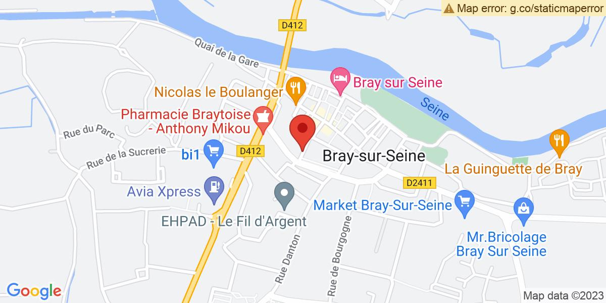 Localisation du projet 'La nuit des églises à Bray-sur-Seine'