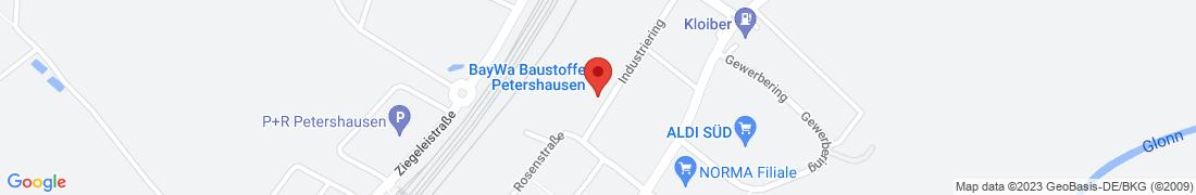 BayWa Baustoffe Petershausen Anfahrt