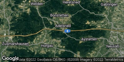 Google Map of Adelsried bei Augsburg