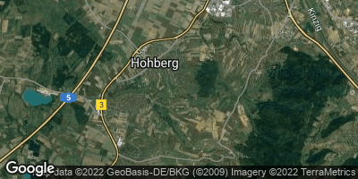 Google Map of Hohberg bei Offenburg