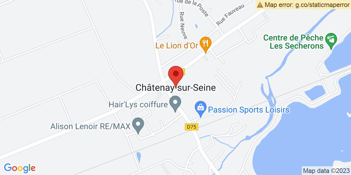 Localisation du projet 'Châtenay-sur-Seine a rebaptisé sa bibliothèque en hommage à Lydia Tonnellier'