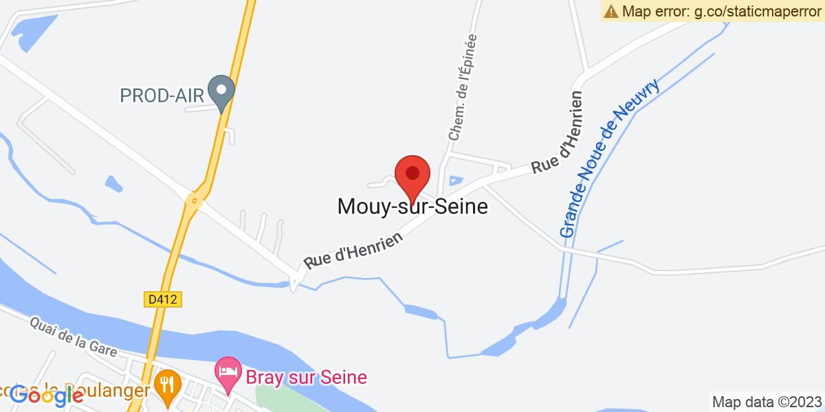Localisation du projet 'La mobilisation maintenue à Mouy-sur-Seine'