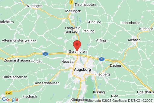 Karte Gersthofen