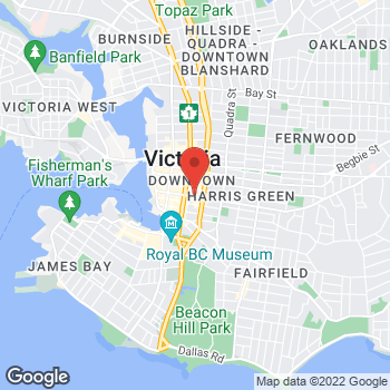 Map of Tim Hortons at 101-754 Fort St, Victoria, BC V8W 1H2