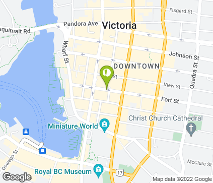 Map of 645 Fort St in Victoria