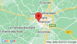 Carte de localisation du centre de contrôle technique Condé sur Sarthe