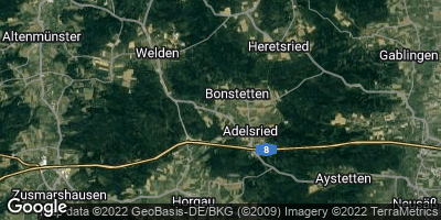 Google Map of Bonstetten bei Augsburg