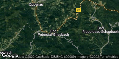 Google Map of Bad Peterstal-Griesbach