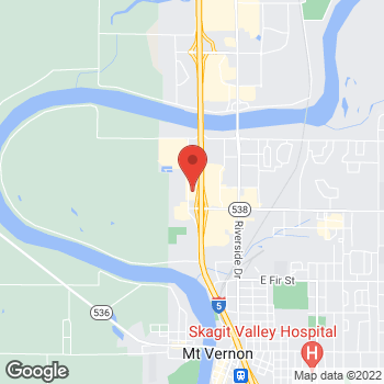 Map of Arby's at 1822 Freeway Dr, Mount Vernon, WA 98273-5437