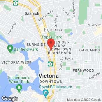 Map of Tim Hortons at 2680 Blanshard St, Victoria, BC V8T 5E1