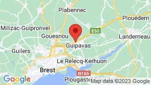 Carte de localisation du centre de contrôle technique GUIPAVAS
