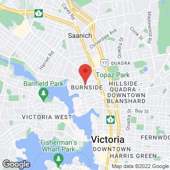 Map of Tim Hortons at 456a Gorge Rd East, Victoria, BC V8T 2W4