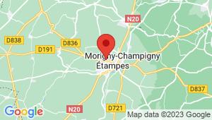 Carte de localisation du centre de contrôle technique ETAMPES