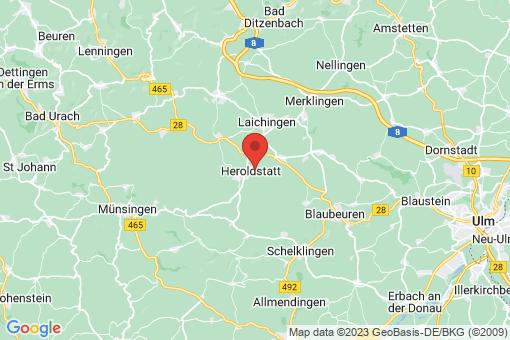 Karte Heroldstatt Sontheim
