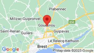 Carte de localisation du centre de contrôle technique GOUESNOU