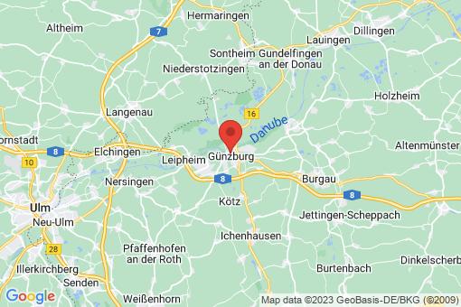 Karte Günzburg