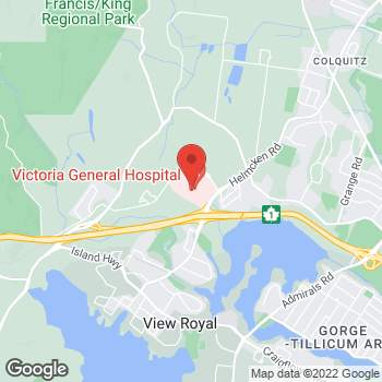Map of Tim Hortons at 1 Hospital Way, Victoria, BC V8Z 6R5