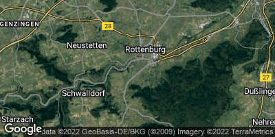 Google Map of Rottenburg am Neckar