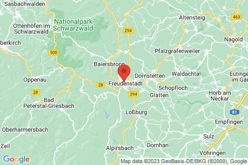 Karte Freudenstadt