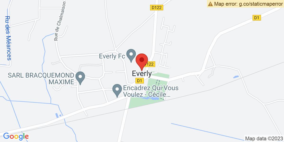 Localisation du projet 'LES CONCOURS DE BELOTE DE L'ANNÉE 2019 , A EVERLY'