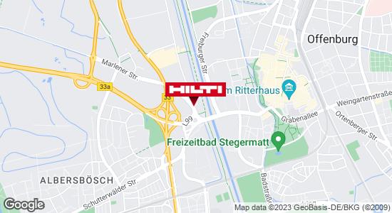 Wegbeschreibung zu Hilti Store Offenburg