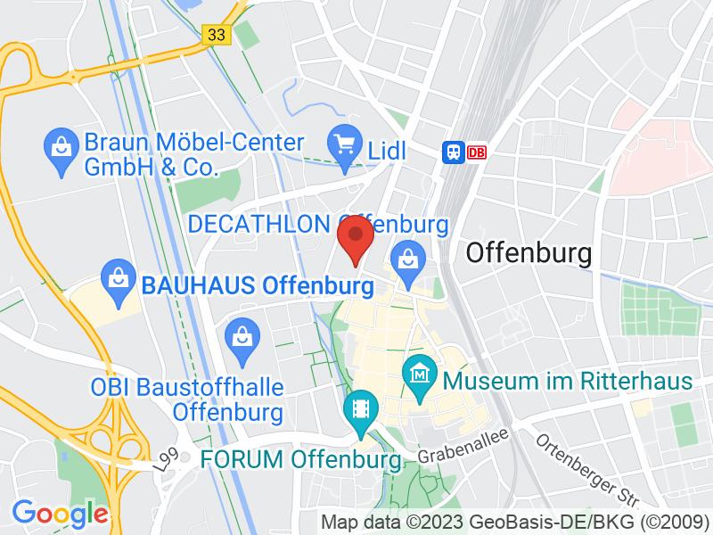 Map of Volksbank Ortenau