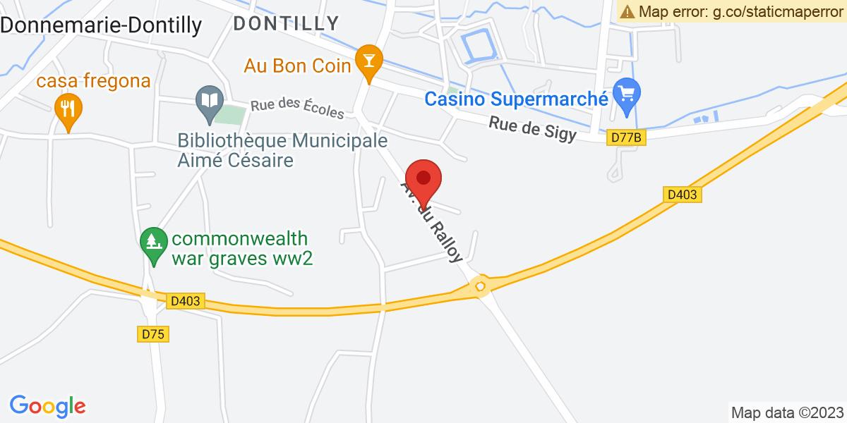 Localisation du projet 'DÉPART DU LIEUTENANT JÉRÉMIE FABRE DE LA COB DE DONNEMARIE-DONTILLY'