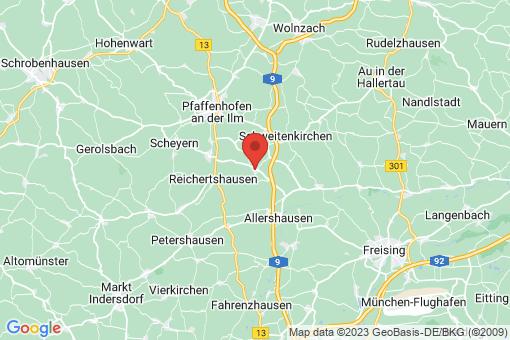 Karte Paunzhausen